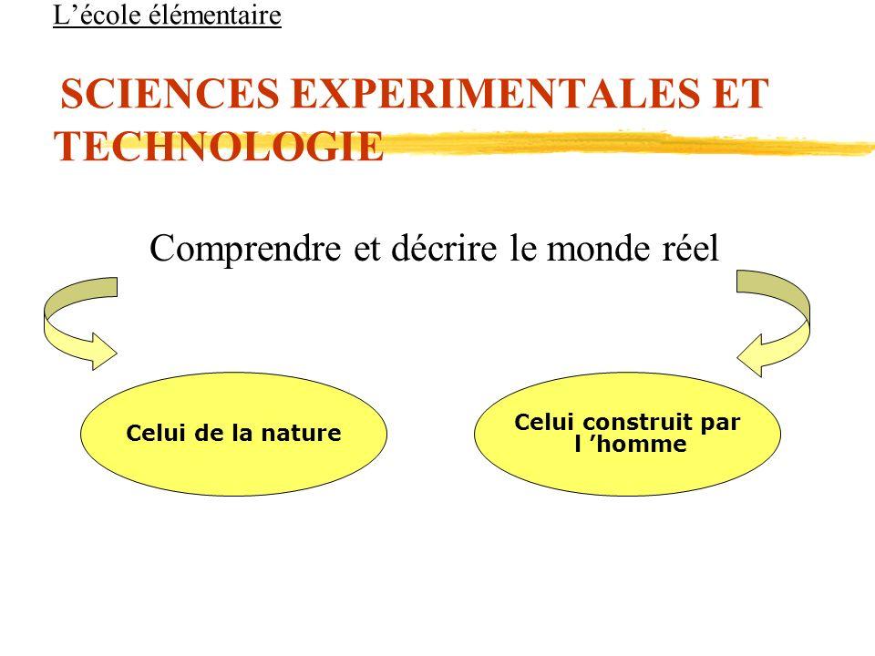 L'école élémentaire SCIENCES EXPERIMENTALES ET TECHNOLOGIE