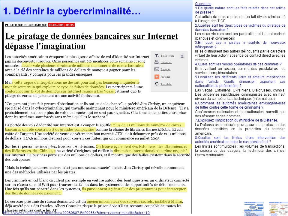 1. Définir la cybercriminalité…
