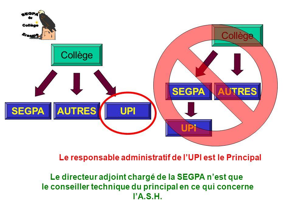 SEGPA du Collège Erasme Collège SEGPA AUTRES Collège UPI SEGPA AUTRES