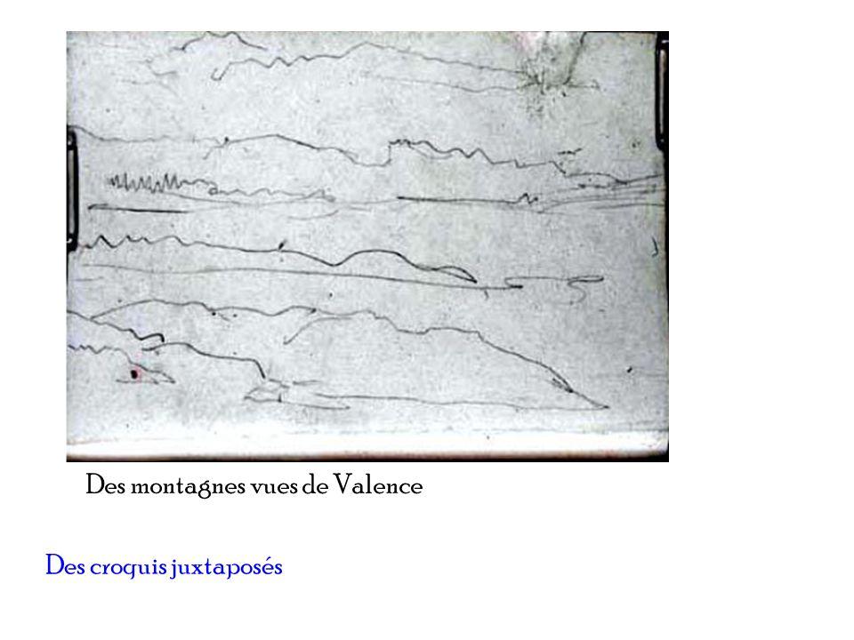 Des montagnes vues de Valence