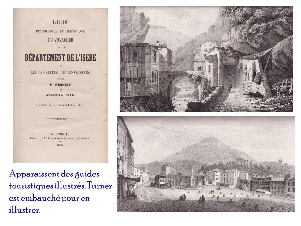 Apparaissent des guides touristiques illustrés