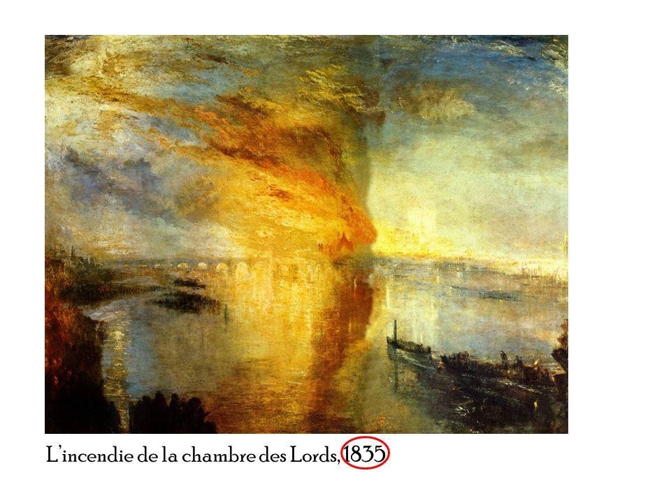 L'incendie de la chambre des Lords, 1835