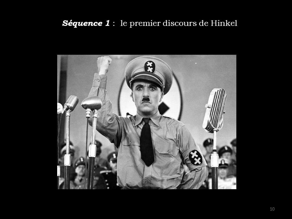 Séquence 1 : le premier discours de Hinkel