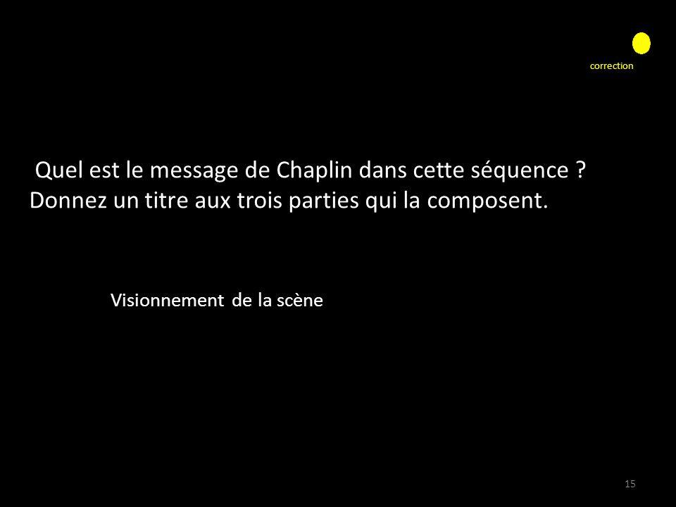 Quel est le message de Chaplin dans cette séquence