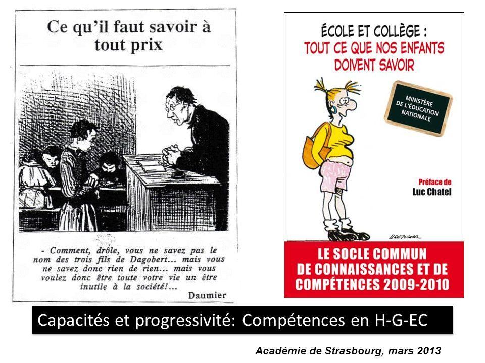 Capacités et progressivité: Compétences en H-G-EC