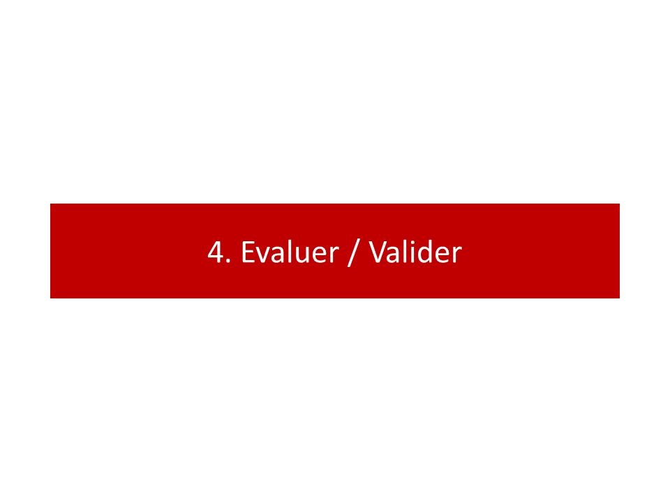 4. Evaluer / Valider