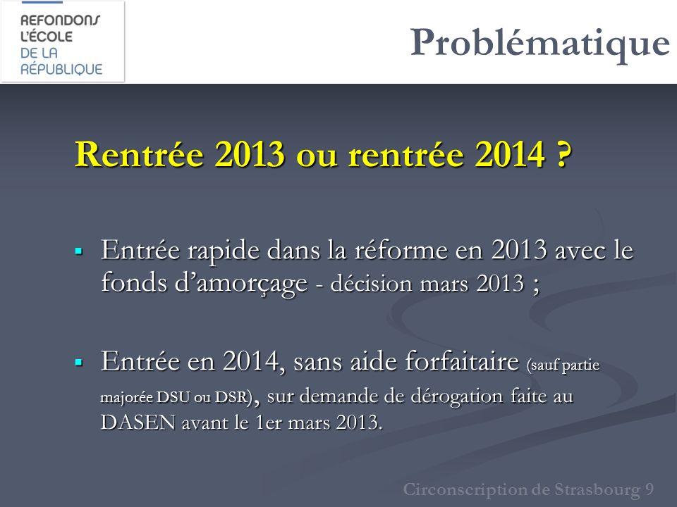 Problématique Rentrée 2013 ou rentrée 2014