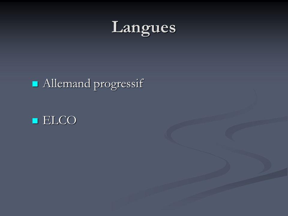 Langues Allemand progressif ELCO