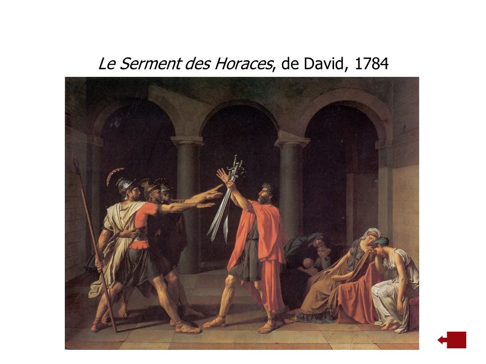 Le Serment des Horaces, de David, 1784