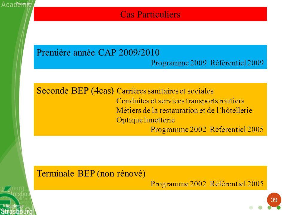 Seconde BEP (4cas) Carrières sanitaires et sociales