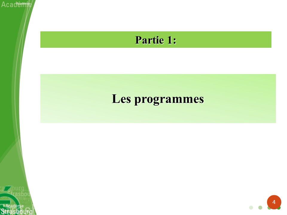 Partie 1: Les programmes