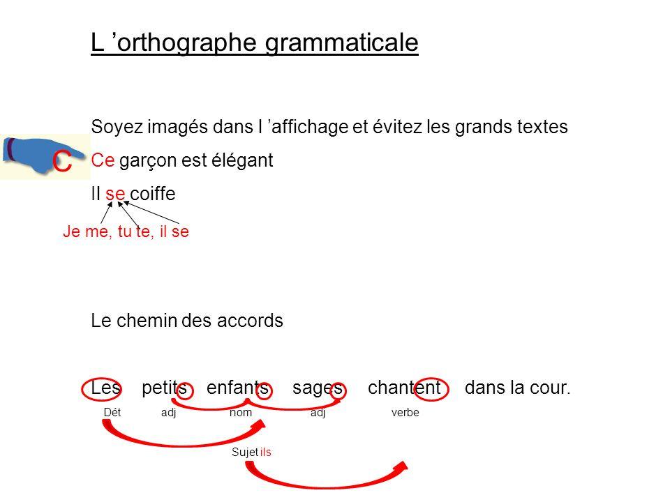 C L 'orthographe grammaticale