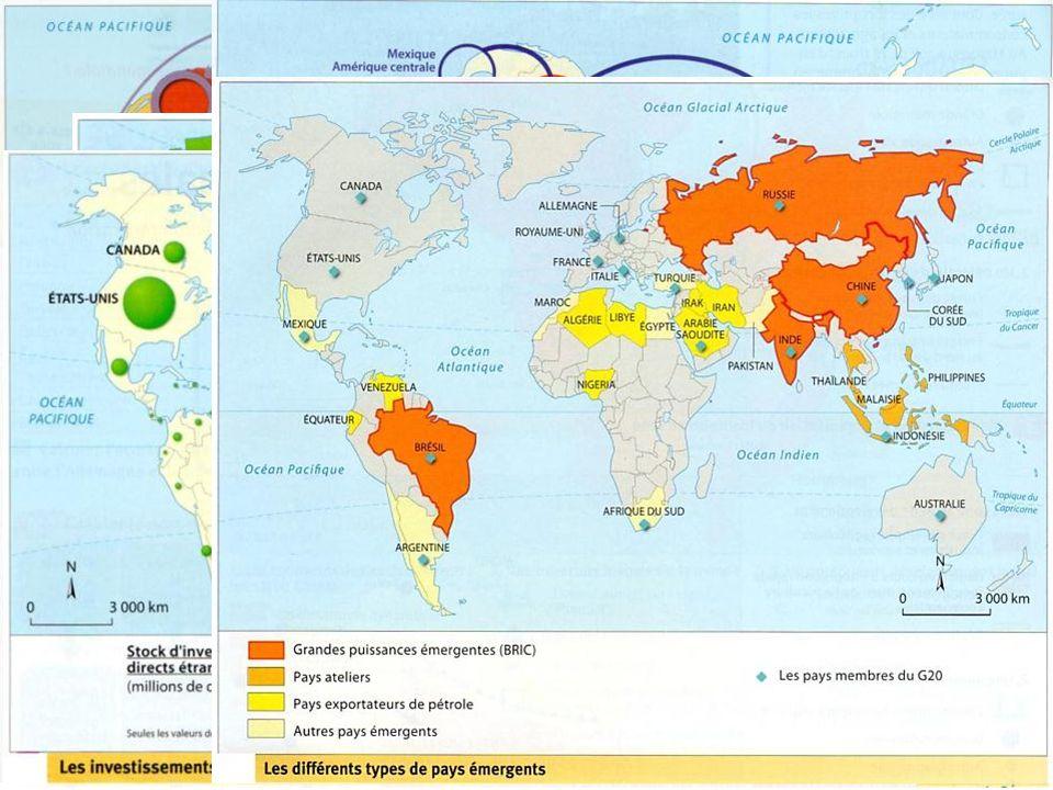 Exemples de cartes étudiées au cours de l'année