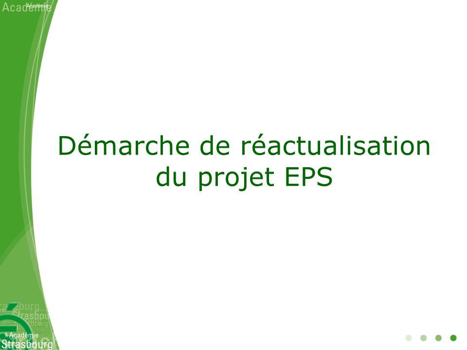Démarche de réactualisation du projet EPS