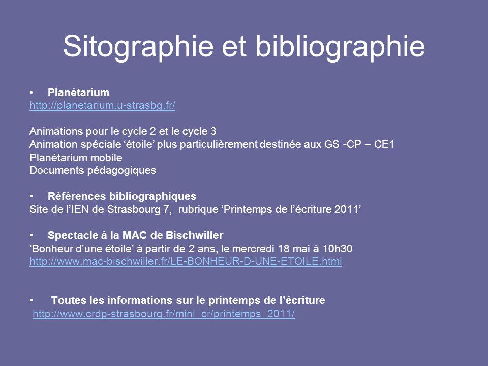 Sitographie et bibliographie