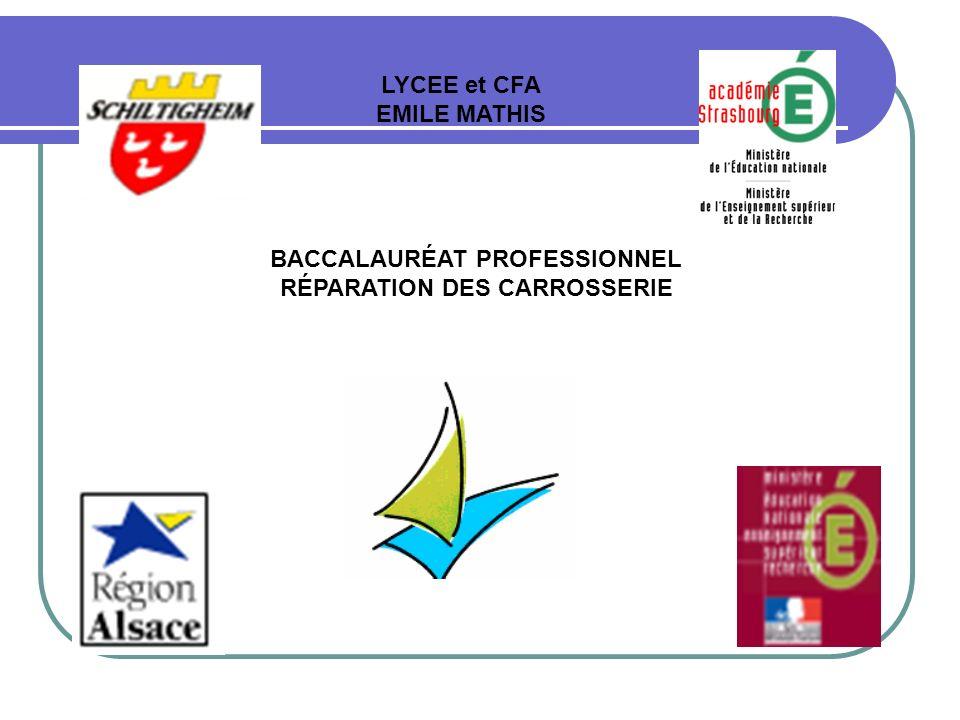 BACCALAURÉAT PROFESSIONNEL RÉPARATION DES CARROSSERIE