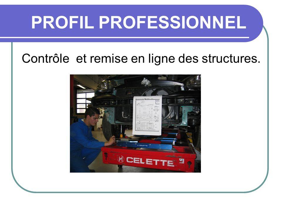 PROFIL PROFESSIONNEL Contrôle et remise en ligne des structures.