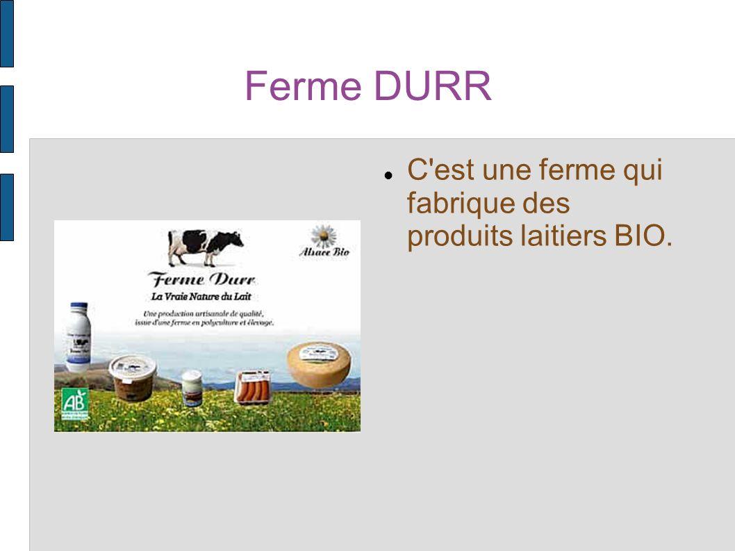 Ferme DURR C est une ferme qui fabrique des produits laitiers BIO.