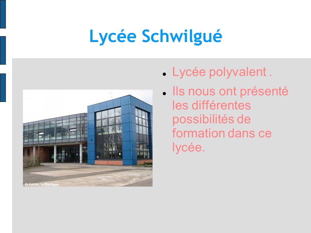Lycée Schwilgué Lycée polyvalent .