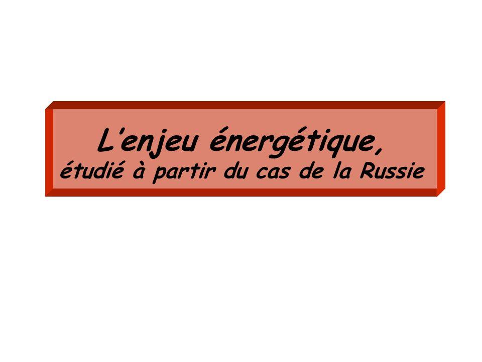 L'enjeu énergétique, étudié à partir du cas de la Russie