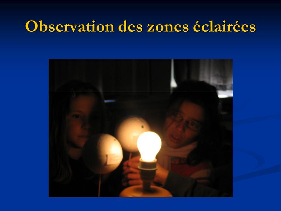Observation des zones éclairées