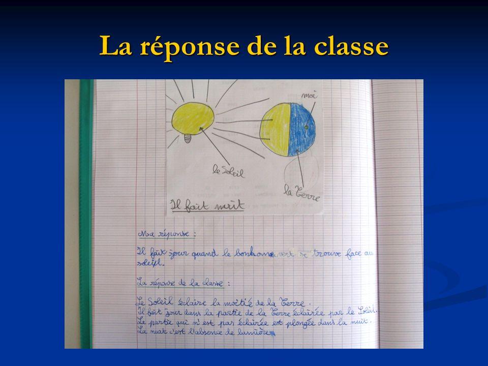 La réponse de la classe