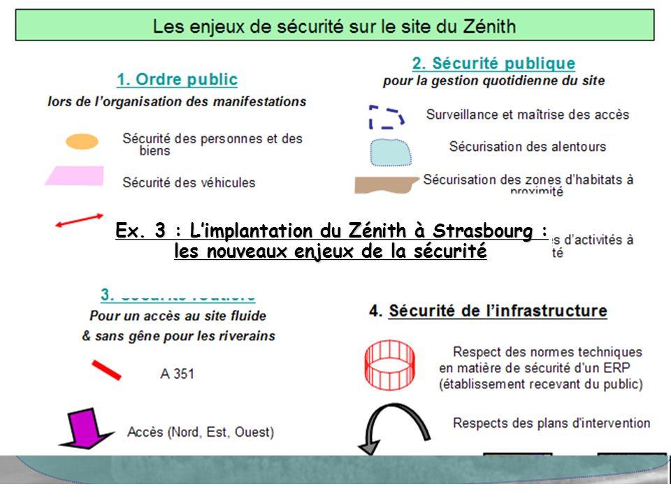 Ex. 3 : L'implantation du Zénith à Strasbourg : les nouveaux enjeux de la sécurité