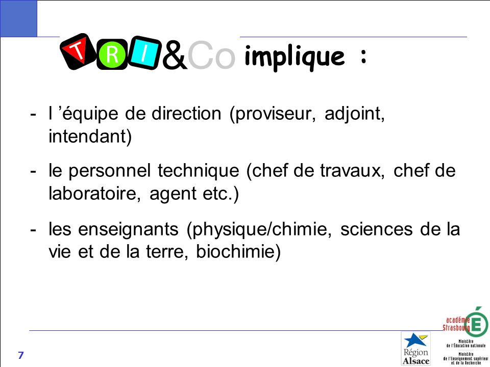 implique : l 'équipe de direction (proviseur, adjoint, intendant)