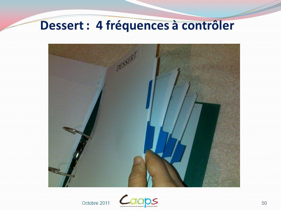 Dessert : 4 fréquences à contrôler