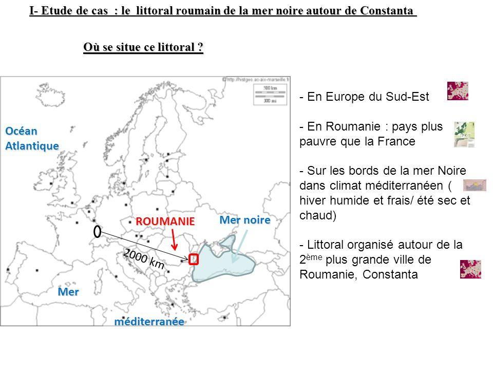 I- Etude de cas : le littoral roumain de la mer noire autour de Constanta