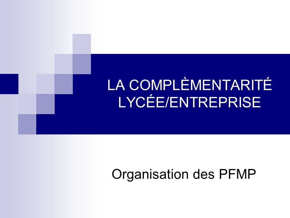 LA COMPLÈMENTARITÉ LYCÉE/ENTREPRISE