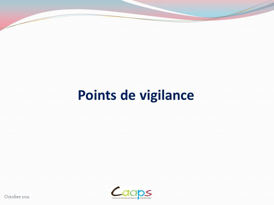 Points de vigilance Octobre 2011