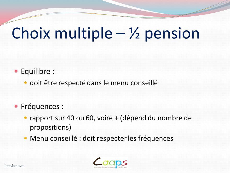 Choix multiple – ½ pension