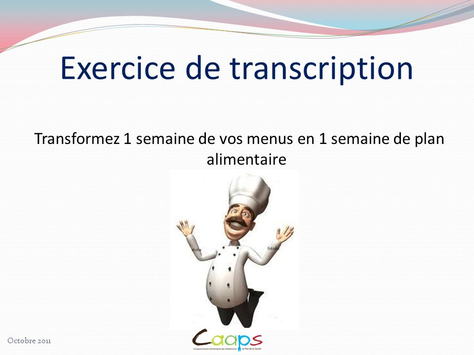 Exercice de transcription