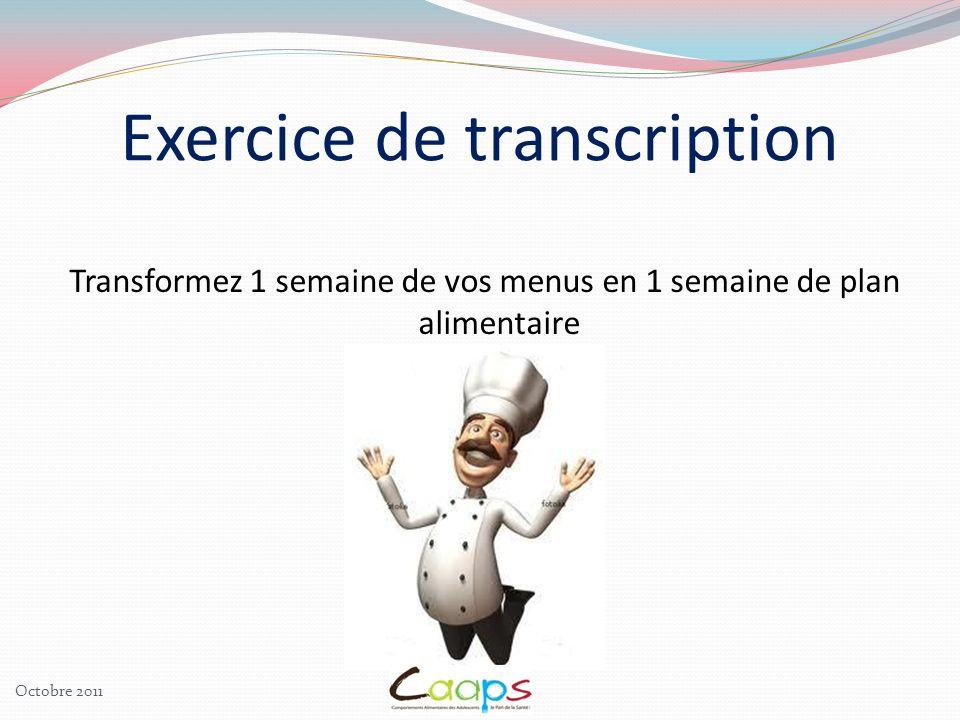 Exercice de transcription