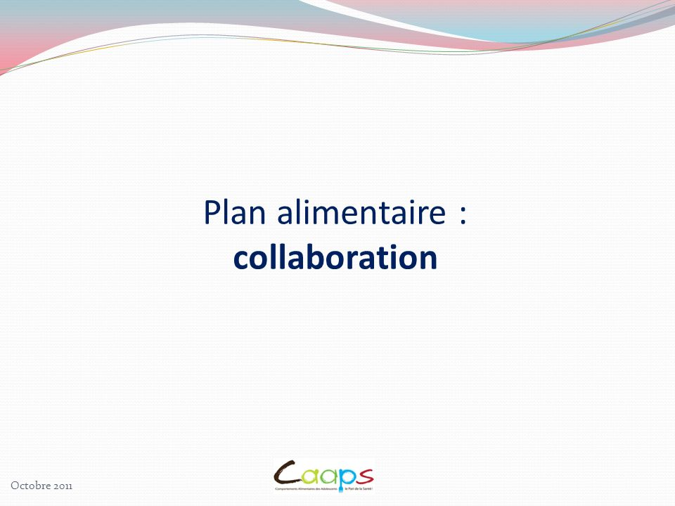 Plan alimentaire : collaboration