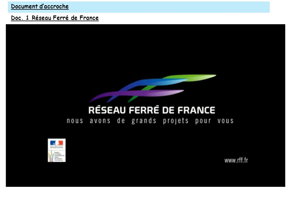 Document d'accroche Doc. 1 Réseau Ferré de France