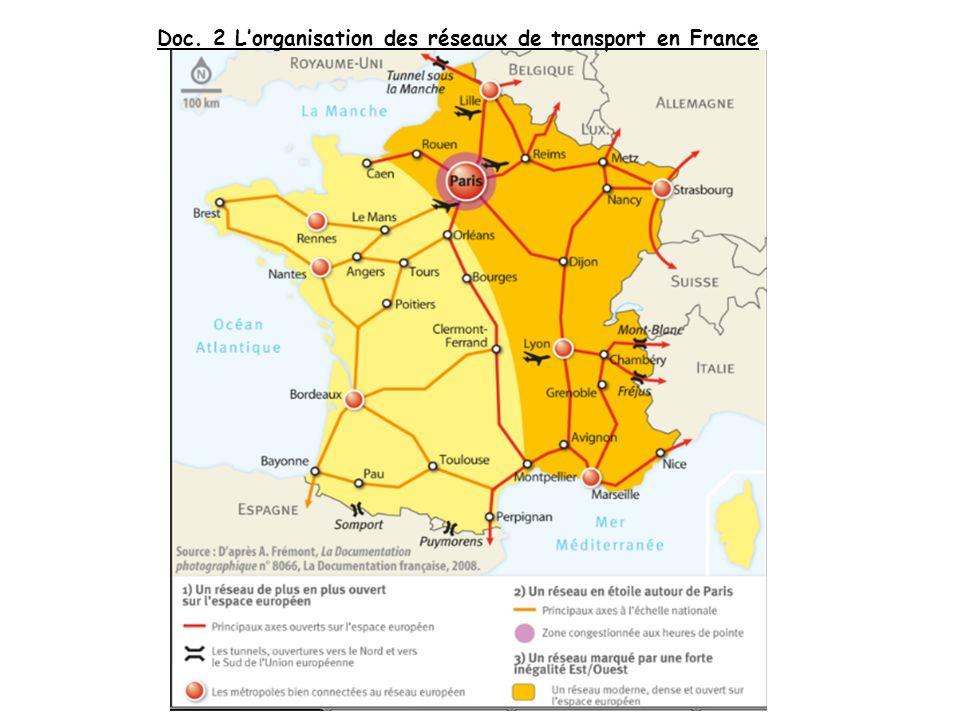 Doc. 2 L'organisation des réseaux de transport en France