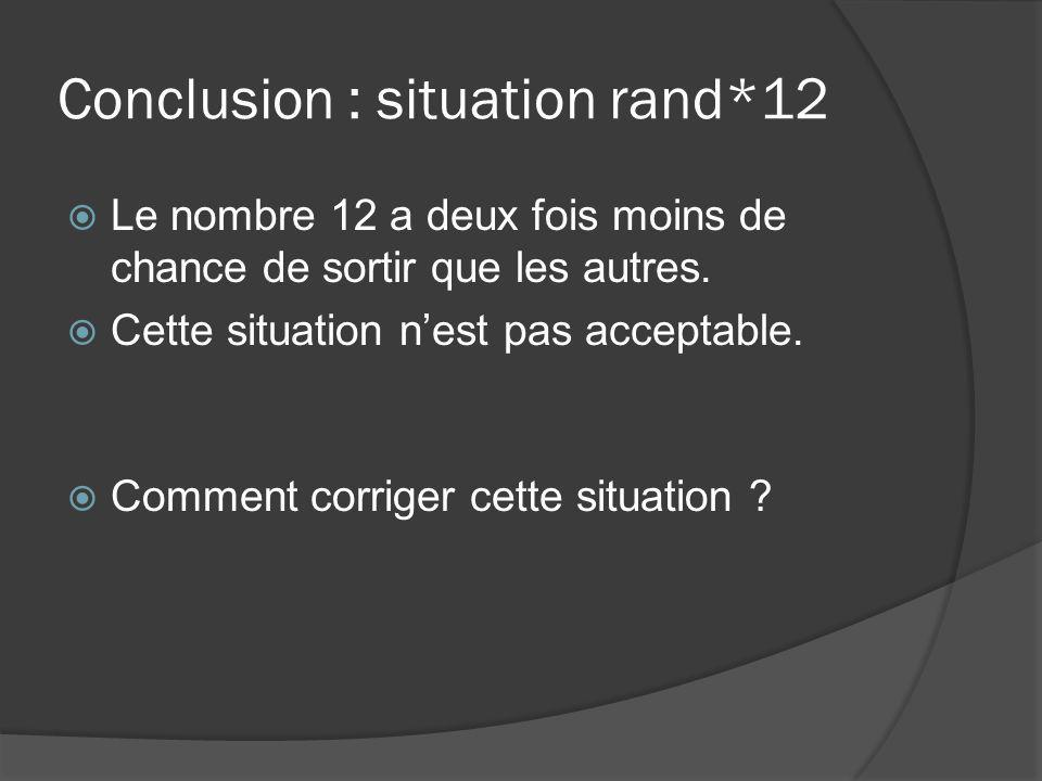 Conclusion : situation rand*12