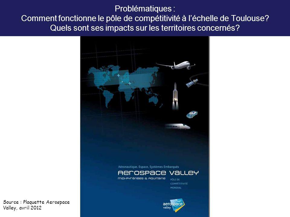 Problématiques : Comment fonctionne le pôle de compétitivité à l'échelle de Toulouse Quels sont ses impacts sur les territoires concernés