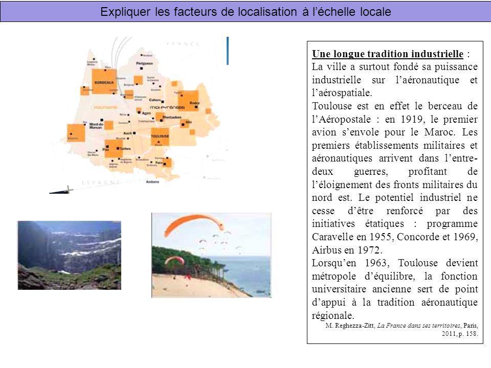 Expliquer les facteurs de localisation à l'échelle locale