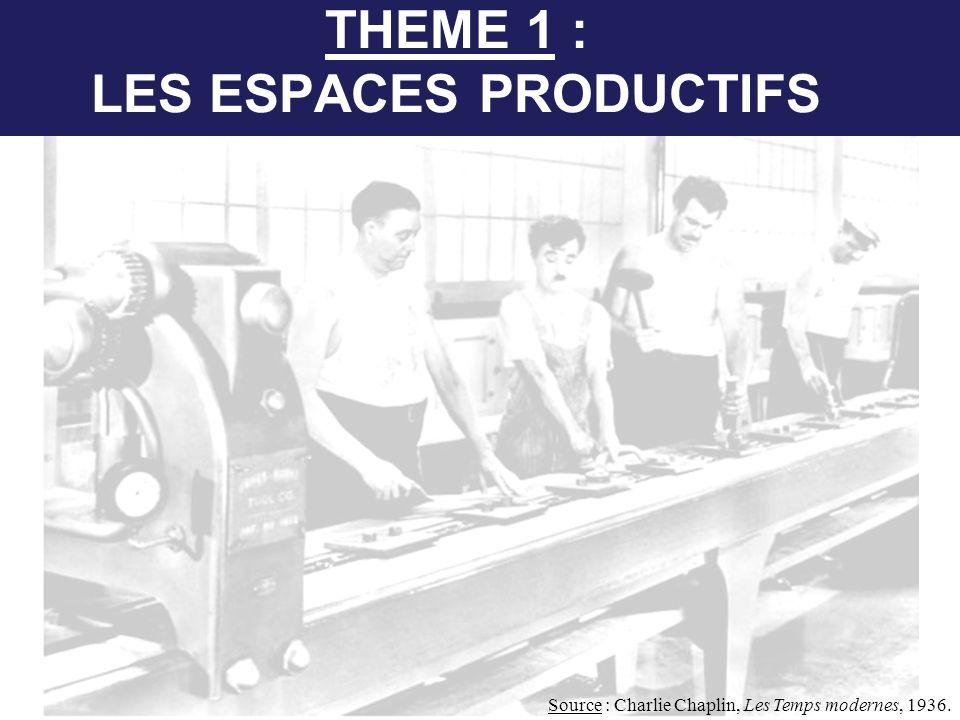 THEME 1 : LES ESPACES PRODUCTIFS