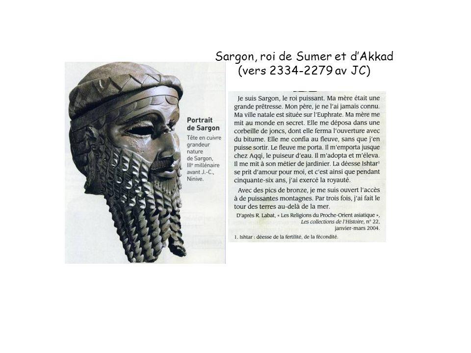 Sargon, roi de Sumer et d'Akkad (vers 2334-2279 av JC)