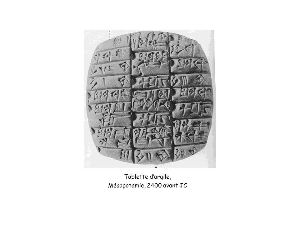 Tablette d'argile, Mésopotamie, 2400 avant JC