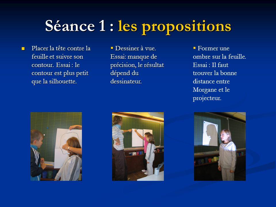 Séance 1 : les propositions
