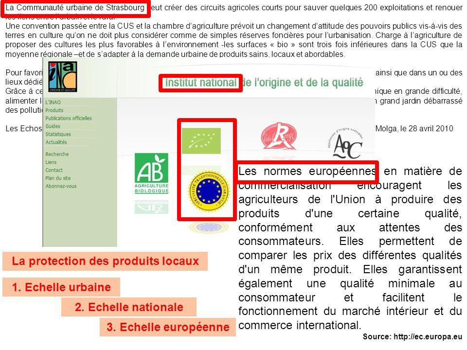 La protection des produits locaux