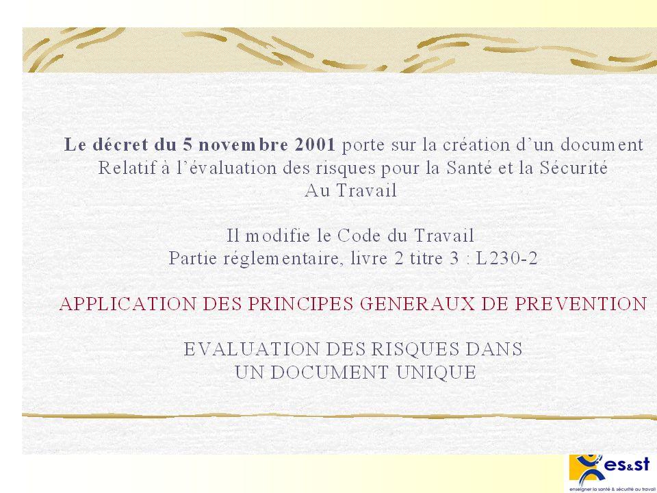 Le décret du 5 novembre 2001 porte sur la création d'un document