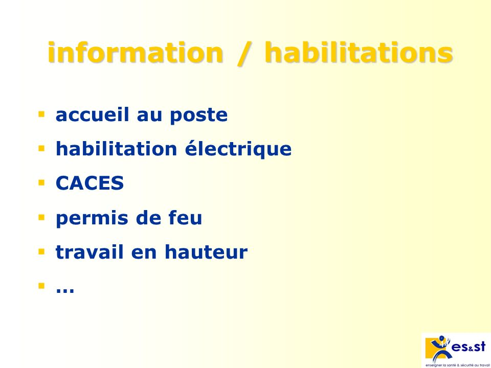 information / habilitations