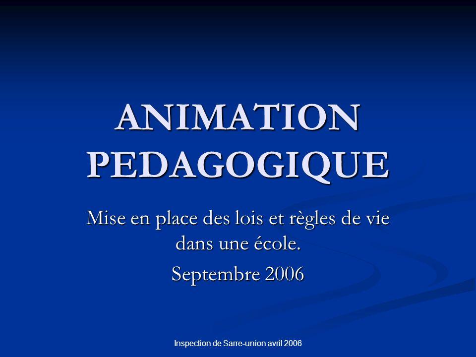ANIMATION PEDAGOGIQUE