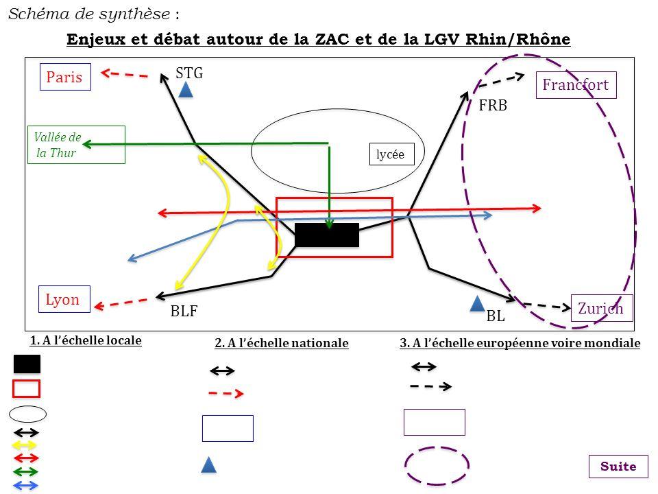 Enjeux et débat autour de la ZAC et de la LGV Rhin/Rhône